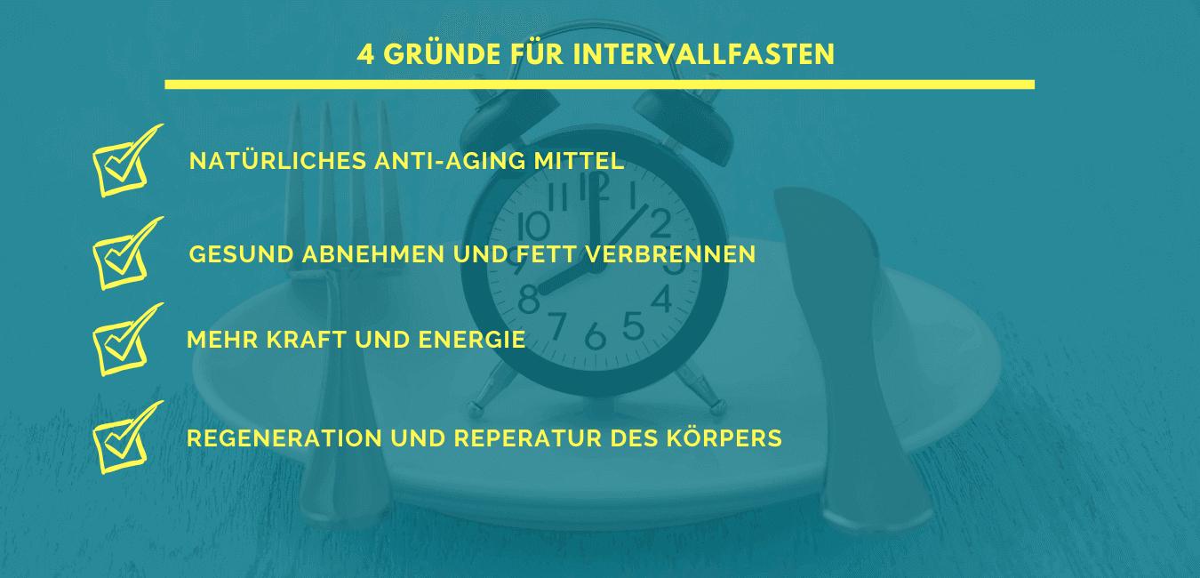4 Gründe für Intervallfasten